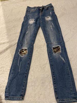 0039 Italy Slim jeans blauw
