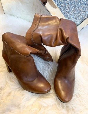 styled in italy Wysokie buty na obcasie brązowy