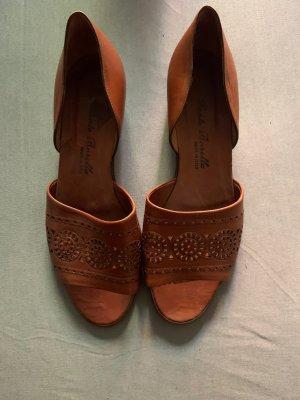 Sante Borella Comfort Sandals cognac-coloured