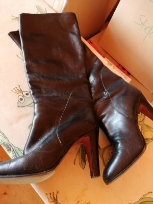 Heel Boots black leather