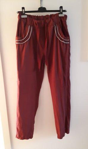 Baggy Pants bordeaux-raspberry-red lyocell