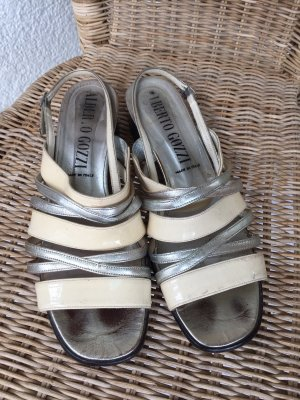 Alberto Gozzi Strapped Sandals white-silver-colored leather