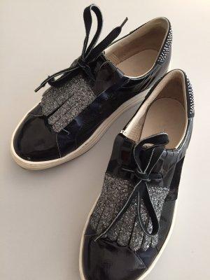 Italienische Schuhe 39 Lack Halbschuhe