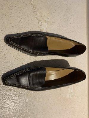 Moccasins dark brown leather