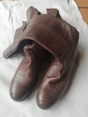 Bottes d'hiver gris brun cuir
