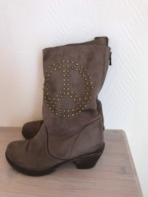 Vera Gomma Buskins taupe-gold-colored