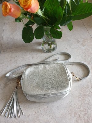Borse in Pelle Italy Handbag silver-colored