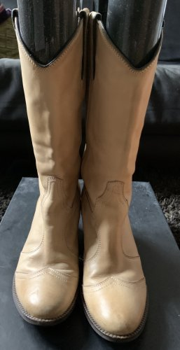 Janet & Janet Boots western brun sable-beige cuir