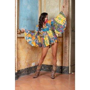 Antica Sartoria Jumpsuit multicolored cotton