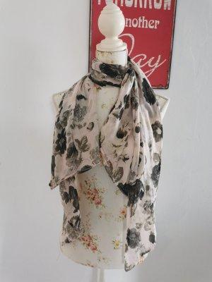 Bufanda de seda rosa-gris