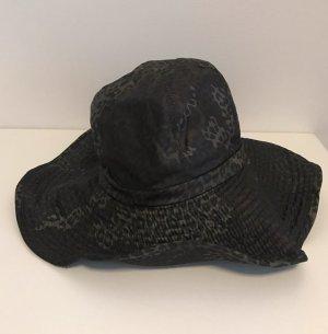 Grevi Miękki kapelusz z szerokim opuszczonym rondem szaro-brązowy-taupe