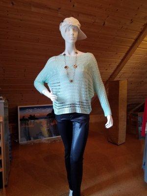 Jersey de ganchillo turquesa