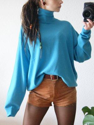 Vintage Turtleneck Sweater neon blue