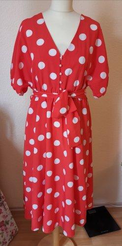 Italienisches Rétro Kleid mit weißen Punkten