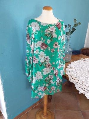 italienisches Seidenkleid/Tunika Onesize floral