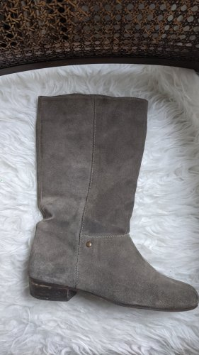 Botas de pantorrilla ancha gris