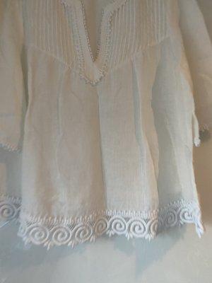 0039 Italy Linen Blouse white