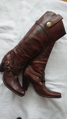 Made in Italy Stivale western marrone
