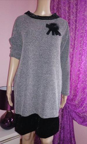 Italy Damen Tunika Kleid Grau Gr. 36/38