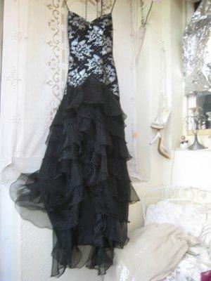 Vestido de baile negro-color plata