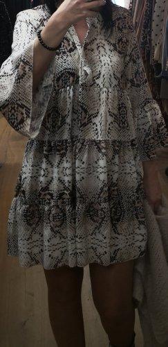 0039 Italy Robe tunique brun-beige clair