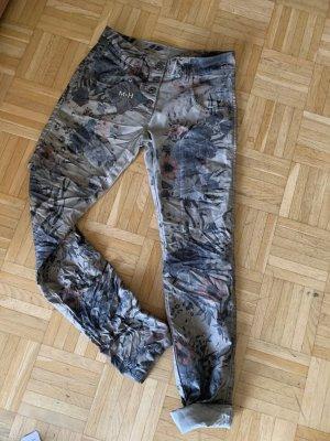 Made in Italy Pantalon «Baggy» multicolore coton