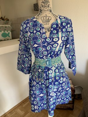ItalY Kaftan/Bluse -Blue/White - Cotton - Größe S 34/36