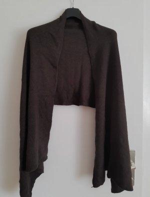 Bufanda de cachemir marrón oscuro Cachemir
