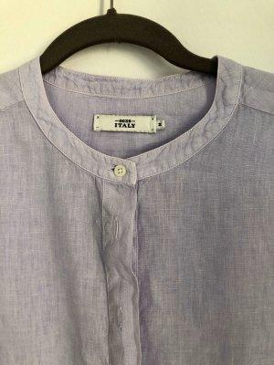 0039 Italy Linnen blouse paars Linnen