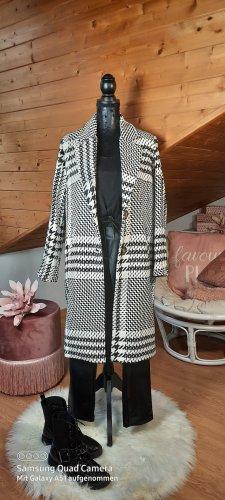 Italy Mode New Style Mantel kariert in schwarz/creme Gr. M