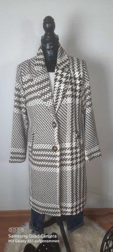 Italy Mode Style Mantel kariert in beige/braun Gr. M NEU