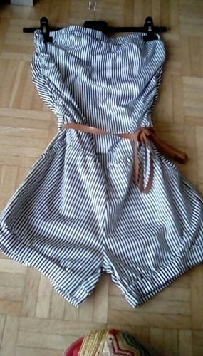 ITALY Overall/Jumpsuite - Shorts - Gestreift - Bandeau - OneSize - New! Black/White
