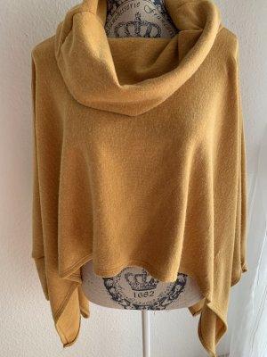 Made in Italy Poncho amarillo oscuro-naranja dorado Viscosa