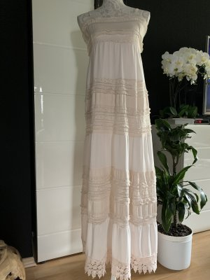 Made in Italy Maxi abito bianco sporco Cotone