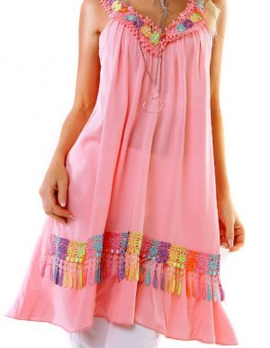Italy Tunika - LightPink/Color - OneSize - Flower - Blumig!