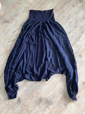Made in Italy Pantalone largo blu scuro Viscosa