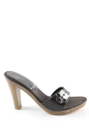 ITTI & OTTO Heel Pantolettes black casual look