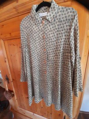 Fabris Tunic Dress oatmeal-green grey