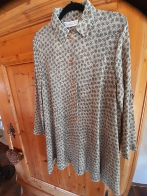 Fabris Vestido tipo túnica beige claro-gris verdoso