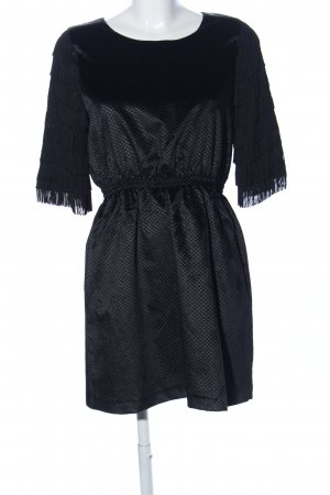Ivana Helsinki Fringed Dress black graphic pattern casual look