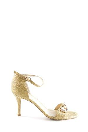 Ivanka Trump High Heel Sandaletten goldfarben Glanz-Optik