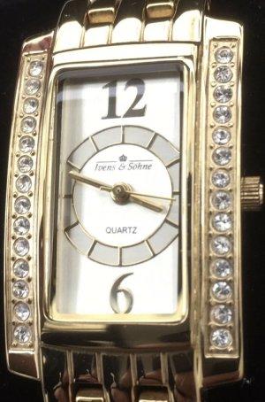 Ivens & Söhne Reloj con pulsera metálica color oro metal