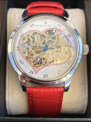 Ivens & Söhne Zegarek automatyczny biały-czerwony
