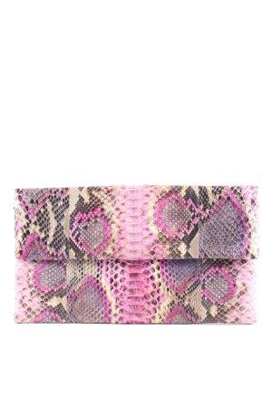 IVETTE Clutch wollweiß-pink Allover-Druck Elegant