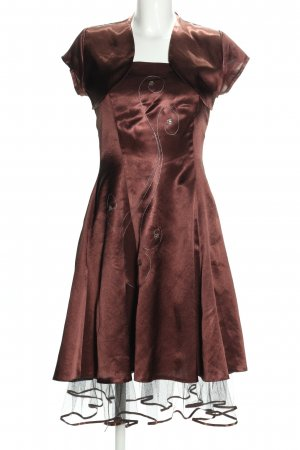 IVETTE Woven Twin Set brown elegant