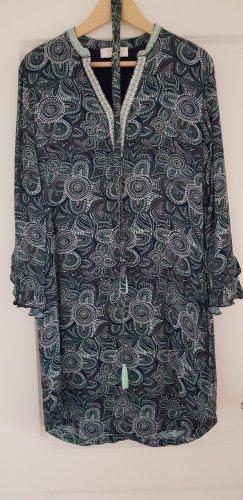 Ivi collection Kleid Gr. 38 blau multicolor mit Seidenanteil