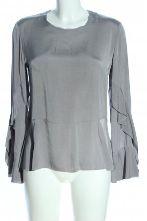 Ivi collection Langarm-Bluse hellgrau Business-Look