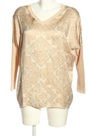 Ivi collection Camisa holgada blanco puro-blanco estampado gráfico