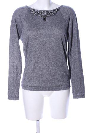 Ivi collection Camicia maglia grigio chiaro puntinato stile casual