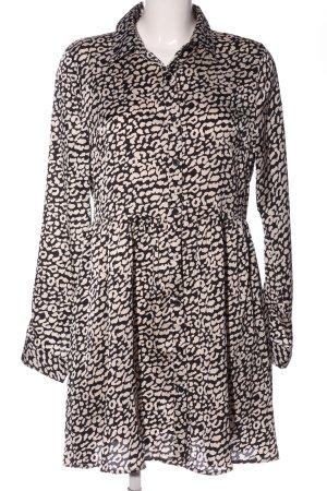 Ivivi Blusenkleid schwarz-weiß Animalmuster Casual-Look